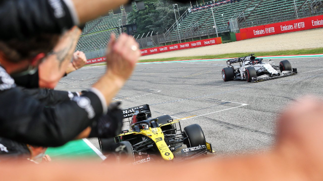 Second Podium Joy For Renault DP World F1 Team in Imola